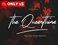 Free   The Queenthine Signature Script Typeface