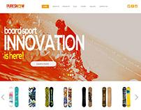 Snowboard shop branding concept