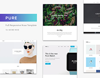 Pure. Minimal Portfolio Wordpress & Adobe Muse Template