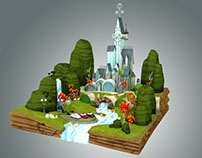 Low Poly Fantasy Castle Environment