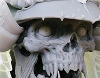 Samurai Skull - 3D Print