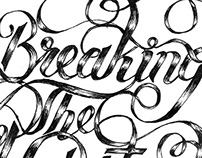 Breaking the habit lettering