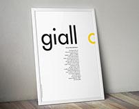 """Typo color - """"Giallo"""" corporate image"""