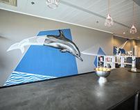 OFFICE DESIGN // OCEAN // TAPE ART & GRAFFITI
