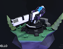 Low-Poly Tower for tower-defence indie game