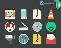Flat icons App. 2016