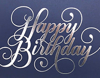 Michaels Jewelers - Hand-Lettered Greeting Cards