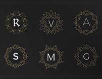 Monogram & Crest Logos Set