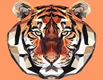 Tiger Polygon Art