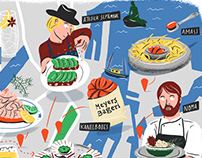 Copenhagen illustrated map // MyCuisine #8