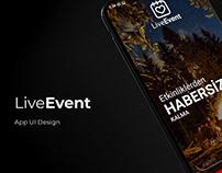 Live Event App UI Design