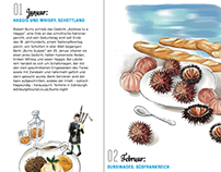 Calendar for gourmet 美食家的旅行月曆