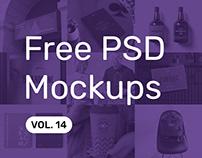 Free PSD Mockups vol. 14