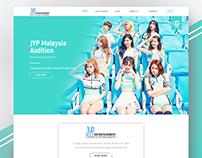 JYP Malaysia Audition Web Re-Design