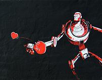 PING PONG LOVE. Street Art Xèlon Xlf.