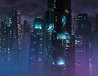 Cyberpunk City / Matte Painting