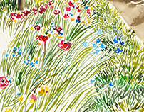 I N K S K E T C H I N G / Landscape sketching with ink