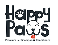 Happy Paws branding and label design