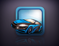 Car racing app icon