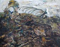 """Settlement"", oil on canvas"