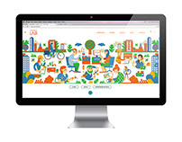 website homepage illustration
