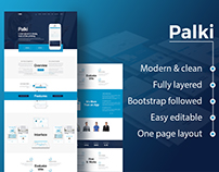 App Landing Page Psd Template