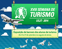 Banner XVIII Semana de Turismo USJT