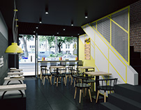 """BRIGHT"" NEW CONCEPT FOR ISRAEL STREET-CASUAL CAFE"