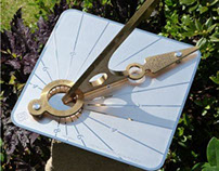 Hourdial horizontal garden sundial