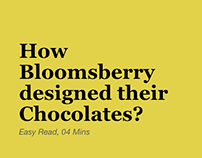 Article: How Bloomsberry designed their chocolates?