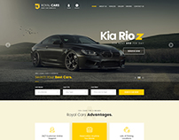 Royal Cars PSD Template