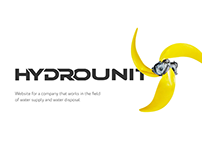 Hydrounit - website for water supply company