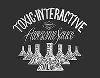 Toxic Interactive - Hand drawn tee design