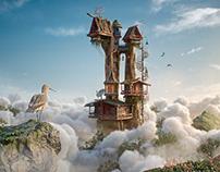Over the Clouds - Pixar Renderman Challenge