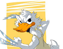 the Duck in X-Men Mood