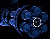 Minigun. Short VFX animation