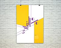 Arabic typography poster كاني و ماني