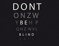 Don't be blind