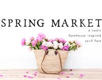 Spring Market Rustic Serif Font