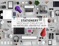 Stationery Mockup creator - Mockup scene generator