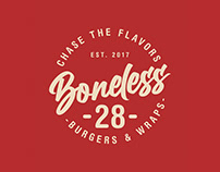 Boneless28 Food Kiosk Rebrand