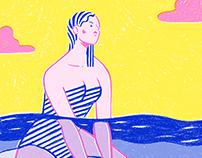 Le Surf - Le Bain / Risograph