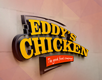 EDDY'S CHICKEN Fast Food Branding and Store Design.