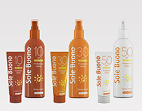Sun protection line packaging design