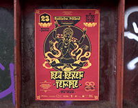 A series of posters for the Show «Red Rexen Temple»