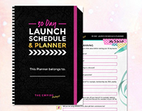 PDF Design - Launch Schedule & Planner