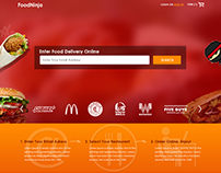 Food Ninja Website Design