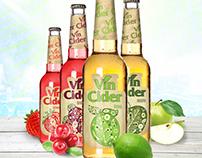 Label design and promo campaign - Vin Cider, Serbia