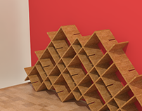 Bookcase 'Candy'