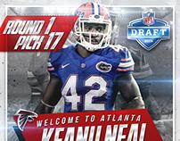 Designs of Atlanta Falcons top 3, 2016 NFL Draft picks.